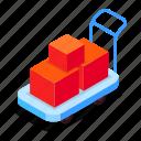 trolley, cardboard, parcels, logistics