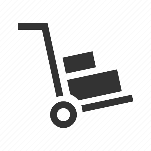 Cart, delivery, express, hand truck, pickup, shipping icon