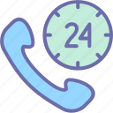 contact, delivery, hour, order, service icon