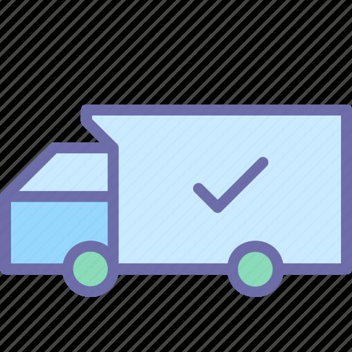 check, delivery, order, service, truck icon