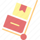 box, delivery, order, package, service, trolly icon