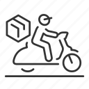 courier, delivery, motorcycle, scooter icon