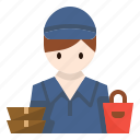 avatar, delivery, food, guy, man, service icon