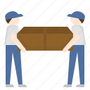 courier, delivery, man, parcel, relocation icon