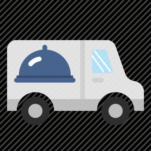 delivery, food, online, service, van icon