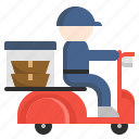 delivery, drive, food, healthy, scooter, service, shipping