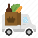 courier, delivery, errand, grocery, supermarket icon