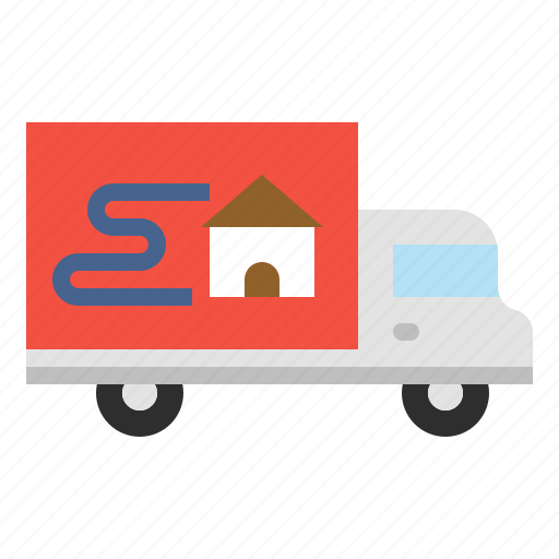 courier, home, moving, relocation, residential, service icon