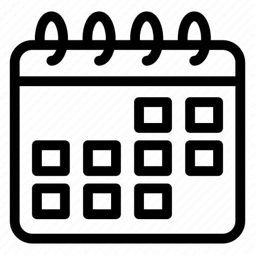 almanac, calendar schedule, chronology, daybook, reminder, yearbook icon