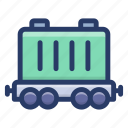 cargo container, cargo train, container, delivering, freight train, freight transport, shipping icon