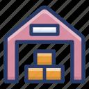 depository, stock warehouse, stockroom;, storehouse, storeroom icon