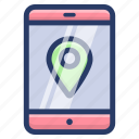 location marker, map locator, map pin, online location app, online location pointer, online mobile location icon