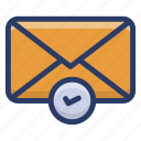 business document, business email, email, inbox, message, verified email icon