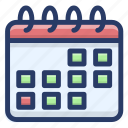 almanac, calendar schedule, chronology, daybook, reminder, yearbook icon