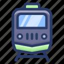 public train, public transport, rail, railroad, railway track, transportation, traveling icon