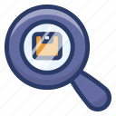 packaging finding, parcel finding, parcel search, parcel tracking, product exploration icon