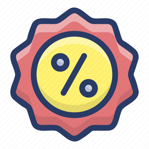 badge, discount card, discount coupon, discount ticket, shopping discount icon