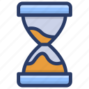 metronome, sand clock, sandglass, timepiece, timer, vintage hourglass icon