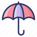 parasol, protection, protective umbrella, rain protection, sunshade, umbrella icon