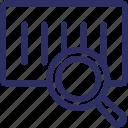 barcode identification, barcode monitoring, barcode scanning, code reader, optical scanning icon