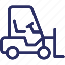 delivery lifter, fork lift, forklift truck, lifter, logistics icon