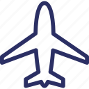 aeroplane, air freight, air travel, aircraft, airjet icon