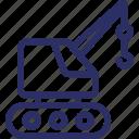 crane, crane machine, industrial crane, loading crane, material lifter icon
