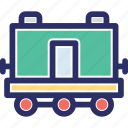 cargo container, cargo train, container, delivering, freight train icon