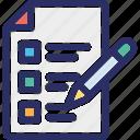checklist, memo pad, task complete, task list, todo list icon