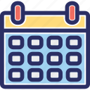almanac, calendar schedule, chronology, daybook, reminder icon