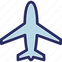 aeroplane, air freight, air travel, aircraft, airjet icon