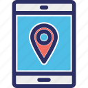 location marker, map locator, map pin, online location app, online location pointer icon