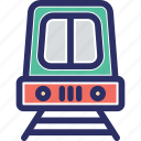 public train, public transport, rail, railroad, railway track icon