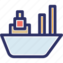 cargo ship, consignment delivery, maritime shipment, sea delivery transportation, sea freight icon