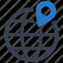 globe, gps, location, world icon