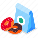 bakery, delivery, donuts, takeaway icon