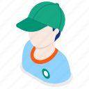 delivery, man, worker, boy icon