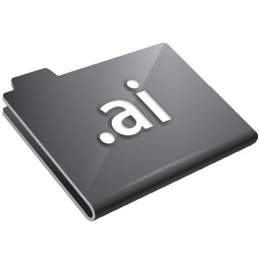 ai, grey icon