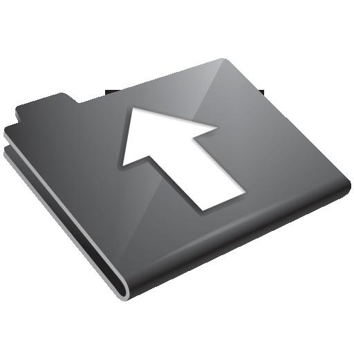 arrow, folder, grey, up icon