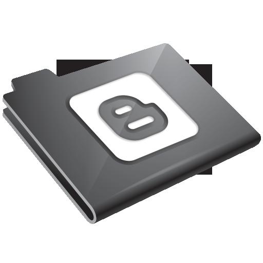 blogger, grey icon