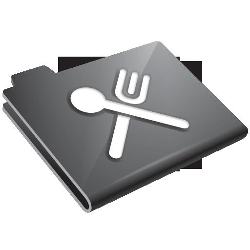 food, grey, restaurant icon