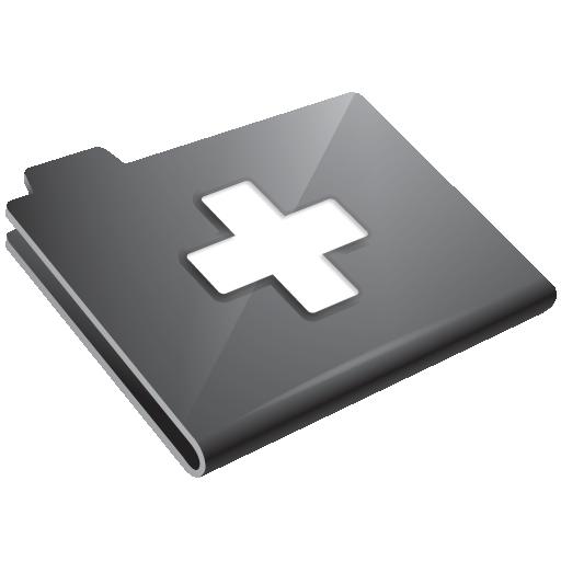 grey, plus icon