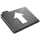 arrow, folder, grey, up icon