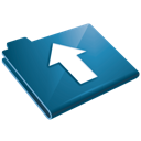 arrow, up, folder, upload, blue icon