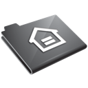 folder, grey, home, house icon