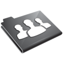 folder, grey, users icon