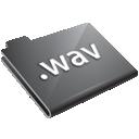 grey, wav icon