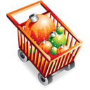 shoppingcart, full, ecommerce, christmas