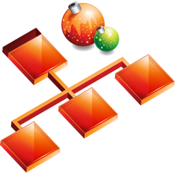 christmas, organigrama, sitemap, structure icon