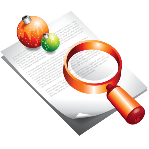 christmas, document, find, search icon